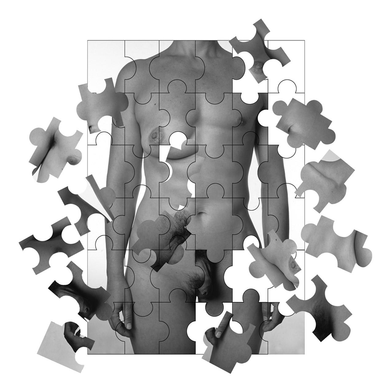 'La caja de Pandora'. 2 fotografías troqueladas y divididas en piezas de puzle
